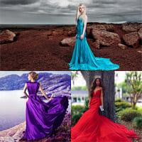 Длинные платья - любимый предмет одежды девушек в 2021 году.