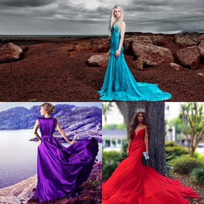 Длинные платья — любимый предмет одежды девушек в 2021 году.